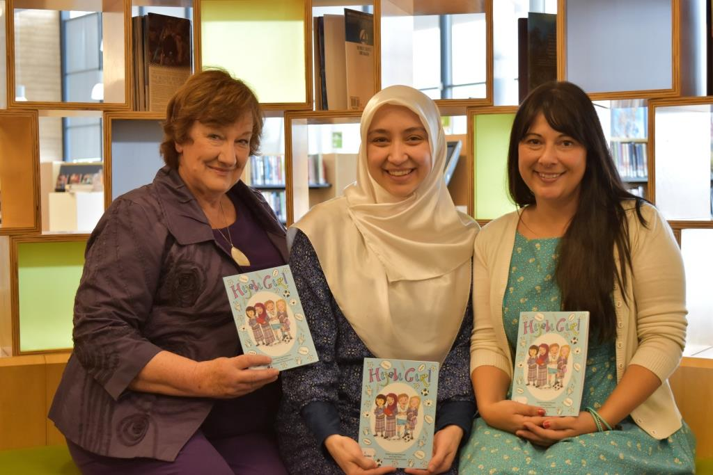 Hijabi Girl launch with 3 co-creators