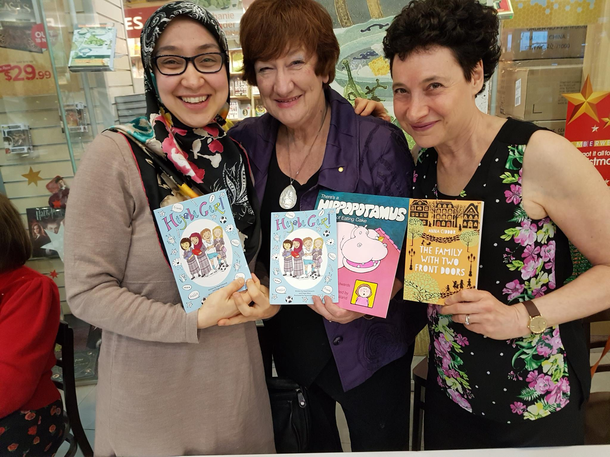 Cross-Cultural Trio autographing at Dymocks Camberwell Xmas