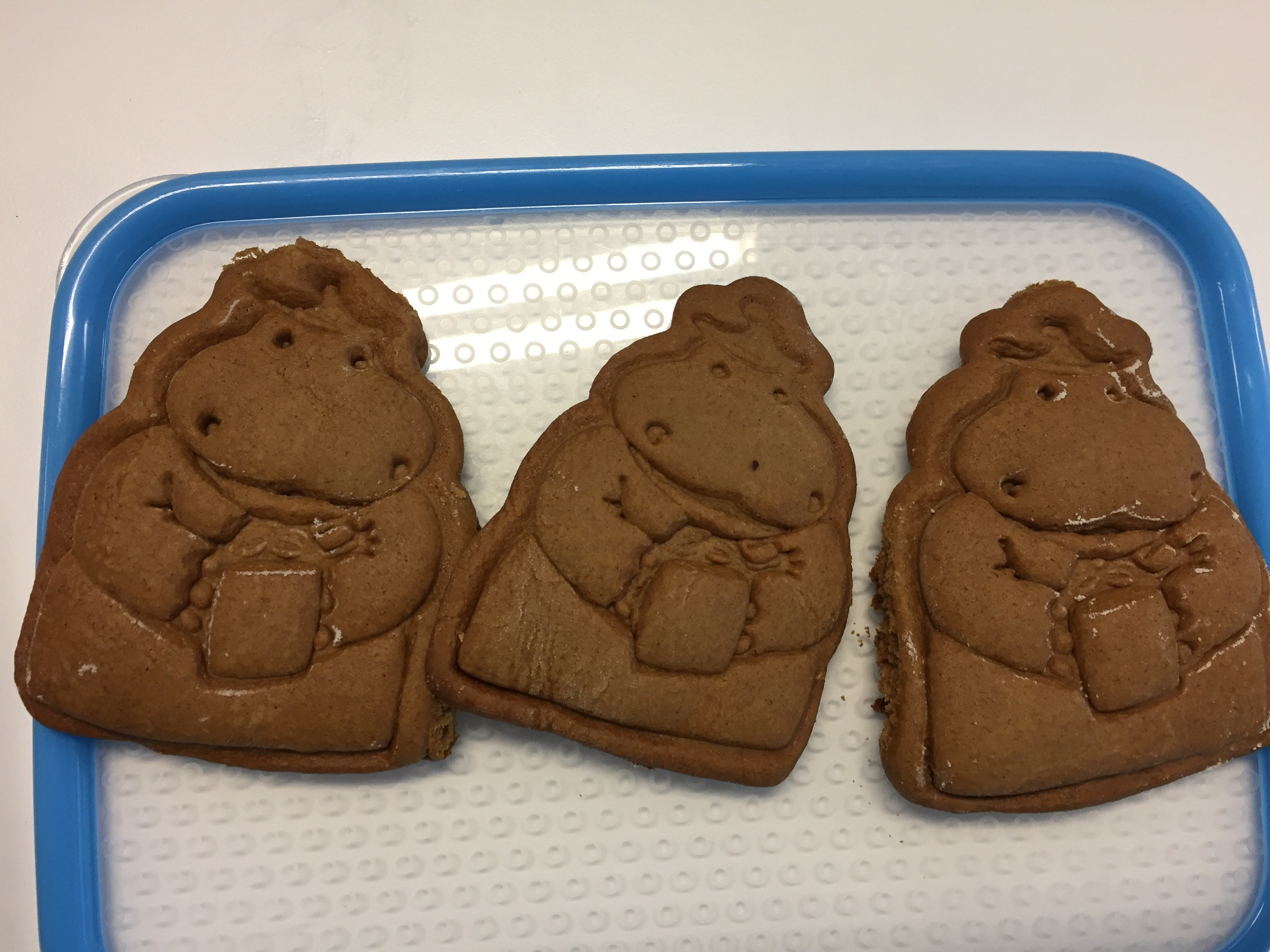 Gingerbread Hippo Biscuits