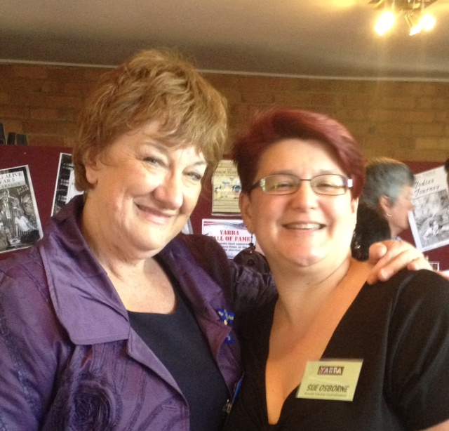With Sue Osborne, Haileybury Librarian, YABBA Awards